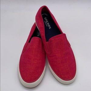 Sperry Pink Slip on Sneakers 8